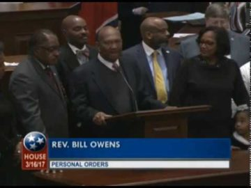 Rev. Owens Honored by the Tennessee Legislature